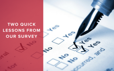 Two Quick Lessons from our Survey